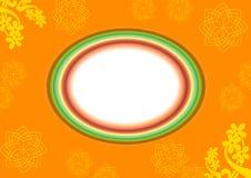 Frame abstrato oval ilustração do vetor