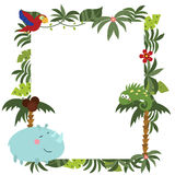Frame with African animals Stock Images