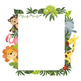 Frame with African animals Royalty Free Stock Photos
