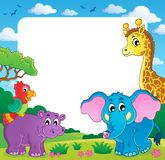 Frame with African fauna 1. Eps10 vector illustration Stock Photos