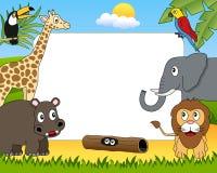Frame africano da foto dos animais [1] Imagens de Stock