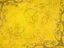 Frame amarelo ilustração royalty free