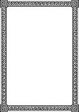 Frame with ancient Greek meander pattern. Elegant frame with ancient Greek meander pattern - black vector illustration isolated on white background Royalty Free Stock Photo