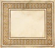 Frame of ancient mosaic on marble, Taj Mahal, India Stock Photo
