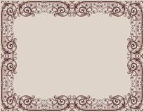 Frame in ancient style Royalty Free Stock Photo