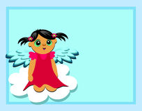 Frame with Angel on a Cloud Royalty Free Stock Photography