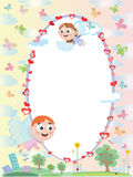 Frame with angels Royalty Free Stock Images