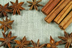 Frame of anise Royalty Free Stock Photography