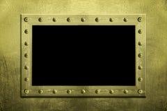 Frame aparafusado metal Imagens de Stock Royalty Free