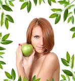 Frame apple Stock Photo