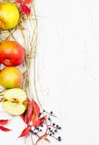 Frame of apples. Royalty Free Stock Photography