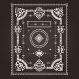 Frame arabic pattern Royalty Free Stock Images