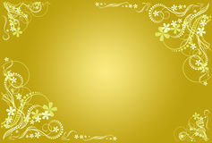 Frame artístico ocher floral Foto de Stock