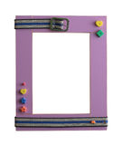 Frame 09. Art children's frame on a white background Royalty Free Stock Image