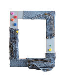Frame 07. Art children's frame on a white background Royalty Free Stock Photography