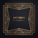 Art deco frame background Royalty Free Stock Image