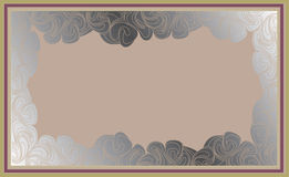 Frame in the art-deco style. Abstract background frame in the art-deco style Stock Images