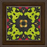 Frame artwork- geometric nature pattern. Oil painting on canvas- interior decoration of rooms. Frame artwork for interior decoration of rooms. Geometric nature vector illustration
