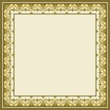 Frame as square geometric pattern, lacy ornament. Frame as square geometric pattern, can be used as a background, invitation, greeting card Royalty Free Illustration