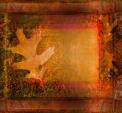 Frame on autumn background Royalty Free Stock Photos