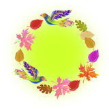 Frame for autumn Stock Photography