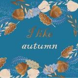 Frame for autumn card Stock Photos