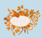 Frame for autumn - hand-drawn Stock Images