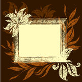 Frame with Autumn Leafs Stock Photography
