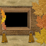 Frame with autumn leaves Royalty Free Stock Photo