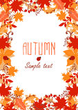 Frame of autumn leaves. Autumn background. Autumn leaves. Vector illustration Royalty Free Stock Photography