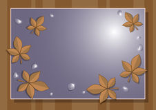 Frame of autumn leaves Stock Photography