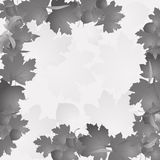Frame of autumn leaves. Frame with autumn leaves in grey cplpr stock illustration