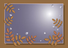 Frame of autumn leaves of mountain ash Royalty Free Stock Images