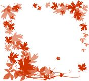 Frame with autumn leaves Stock Photography
