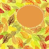 Frame of autumn leaves in vector Stock Photos