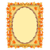 Frame with autumn leaves vector Stock Images