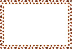 A frame of autumn leaves. Vector. royalty free illustration