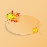 Frame with autumn maple leaves Royalty Free Stock Photography