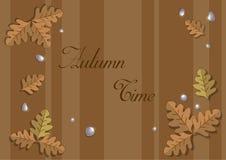 Frame of autumn oak leaves Royalty Free Stock Photos