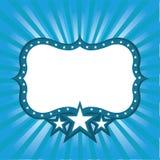 Frame azul com estrelas Imagem de Stock