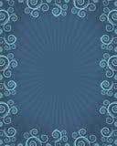 Frame azul com twirls ilustração do vetor