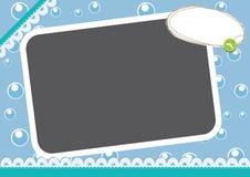 Frame azul da arte ilustração royalty free