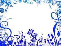 Frame azul da folha ilustração royalty free