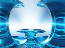 Frame azul de cristal do estágio ilustração royalty free