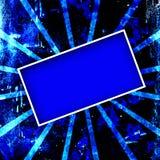 Frame azul de Grunge Ilustração do Vetor
