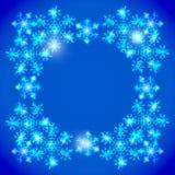 Frame azul do Natal Fotos de Stock