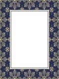 Frame azul do teste padrão com caixa de texto Fotografia de Stock Royalty Free