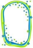 Frame azul e verde das flores ilustração royalty free