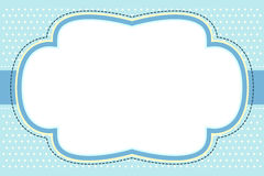 Frame azul ornamentado da bolha Fotografia de Stock Royalty Free