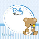 Frame baby bear Royalty Free Stock Images
